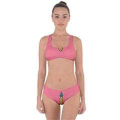Pineapple Fruite Minimal Wallpaper Criss Cross Bikini Set