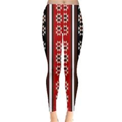 Folklore Pattern Leggings  by Valentinaart
