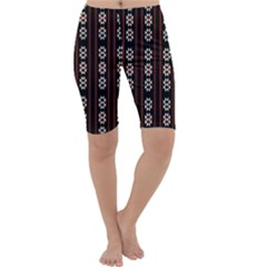 Folklore Pattern Cropped Leggings  by Valentinaart