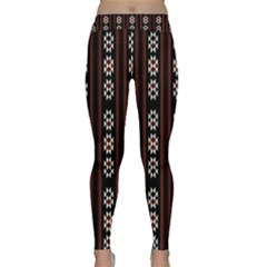 Folklore Pattern Classic Yoga Leggings by Valentinaart