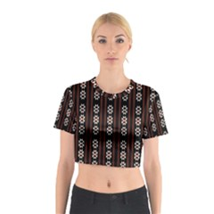 Folklore Pattern Cotton Crop Top by Valentinaart