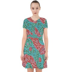 Recursive Coupled Turing Pattern Red Blue Adorable In Chiffon Dress by Mariart