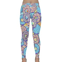 Donuts Pattern Classic Yoga Leggings by ValentinaDesign