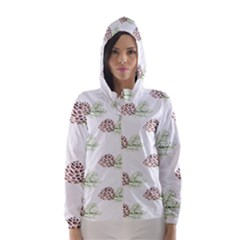 Pinecone Pattern Hooded Wind Breaker (women) by Mariart