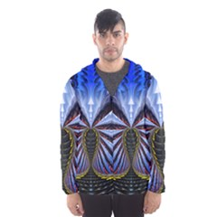 Illustration Robot Wave Hooded Wind Breaker (men)