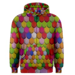Colorful Tiles Pattern                           Men s Zipper Hoodie by LalyLauraFLM