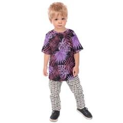 Tropical Pattern Kids Raglan Tee by ValentinaDesign