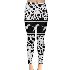Dalmatian Dog Leggings  by Valentinaart