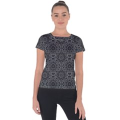 Oriental Pattern Short Sleeve Sports Top  by ValentinaDesign