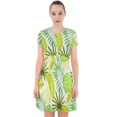 Amazon Forest Natural Green Yellow Leaf Adorable In Chiffon Dress by Mariart