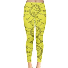 Yellow Flower Floral Circle Sexy Leggings  by Mariart