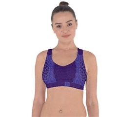 Flower Floral Sunflower Blue Purple Leaf Wave Chevron Beauty Sexy Cross String Back Sports Bra by Mariart