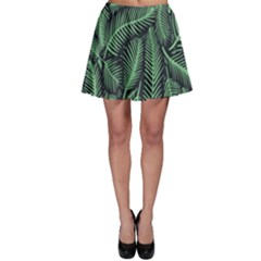 Coconut Leaves Summer Green Skater Skirt by Mariart