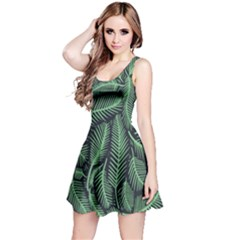 Coconut Leaves Summer Green Reversible Sleeveless Dress by Mariart