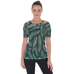 Coconut Leaves Summer Green Short Sleeve Top by Mariart