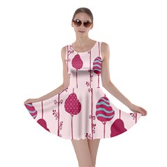 Original Tree Bird Leaf Flower Floral Pink Wave Chevron Blue Polka Dots Skater Dress