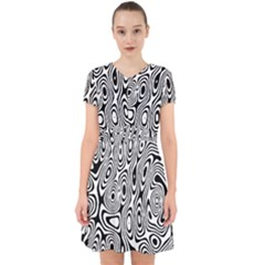 Psychedelic Zebra Black White Adorable In Chiffon Dress by Mariart
