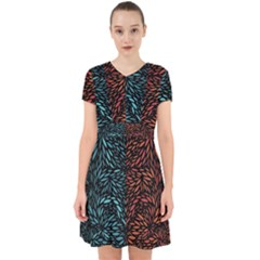 Square Pheonix Blue Orange Red Adorable In Chiffon Dress by Mariart