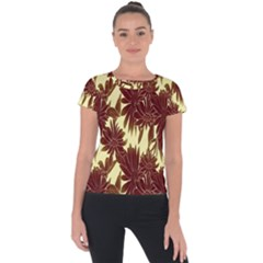 Floral Pattern Background Short Sleeve Sports Top