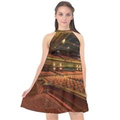 Florida State University Halter Neckline Chiffon Dress  by BangZart