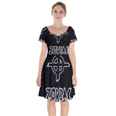 Zodiac Killer  Short Sleeve Bardot Dress by Valentinaart