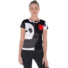 Cute Panda Short Sleeve Sports Top