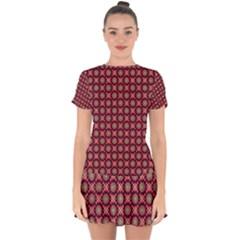 Kaleidoscope Seamless Pattern Drop Hem Mini Chiffon Dress by BangZart