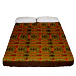 Colourful Kente Pattern Fitted Sheet (Queen Size)