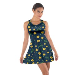 Yellow & Blue Bloom Cotton Racerback Dress by justbeeinspired2