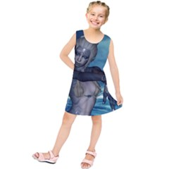 The Wonderful Water Fairy With Water Wings Kids  Tunic Dress by FantasyWorld7
