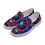 Sun And Moon - Women s Canvas Slip Ons