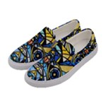 Sirian Solar Invocation Grid - Women s Canvas Slip Ons