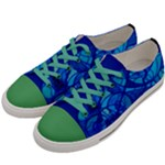 Arcturian Calming Grid - Men s Low Top Canvas Sneakers