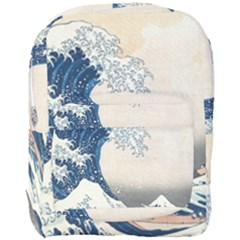 The Classic Japanese Great Wave Off Kanagawa By Hokusai Full Print Backpack by PodArtist