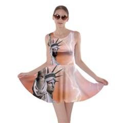 Statue Of Liberty New York Skater Dress