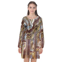 Baroque Church Collegiate Church Long Sleeve Chiffon Shift Dress  by Nexatart