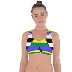 Straight Ally Flag Cross String Back Sports Bra by Valentinaart