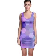 Purple Hexagon Background Cell Bodycon Dress by Nexatart