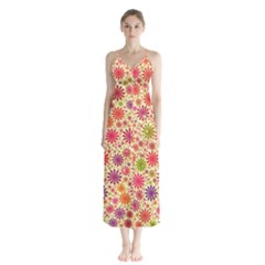 Lovely Shapes 3c Button Up Chiffon Maxi Dress by MoreColorsinLife