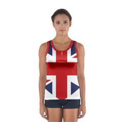 Uk Flag United Kingdom Sport Tank Top