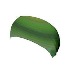 Green Background Elliptical Yoga Headband by Nexatart