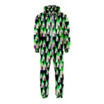 Edgy Cartoon Small Houses Pink Green Purple Multi Hooded Jumpsuit (Kids)