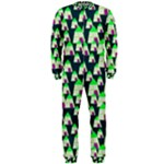Edgy Cartoon Small Houses Pink Green Purple Multi OnePiece Jumpsuit (Men)