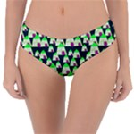 Edgy Cartoon Small Houses Pink Green Purple Multi Reversible Classic Bikini Bottoms