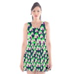 Edgy Cartoon Small Houses Pink Green Purple Multi Scoop Neck Skater Dress