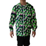 Edgy Cartoon Small Houses Pink Green Purple Multi Hooded Wind Breaker (Kids)