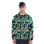 Edgy Cartoon Small Houses Pink Green Purple Multi Wind Breaker (Men)
