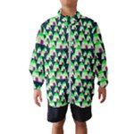 Edgy Cartoon Small Houses Pink Green Purple Multi Wind Breaker (Kids)