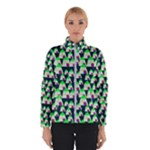 Edgy Cartoon Small Houses Pink Green Purple Multi Winter Jacket