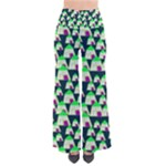 Edgy Cartoon Small Houses Pink Green Purple Multi So Vintage Palazzo Pants